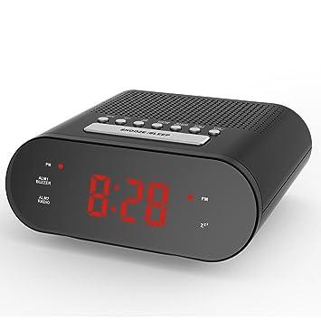 Shuangklei Radio Snooze Despertador Digital De Sobremesa Electrónica Moderna Mesa De Luz Despertador De Proyección Digital: Amazon.es: Hogar