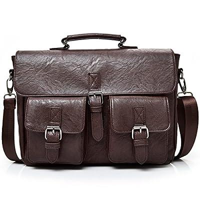 outlet PU Leather Messenger Bag Handbag -Vintage Office Laptop Briefcase Shoulder Business Messenger Bags Tote