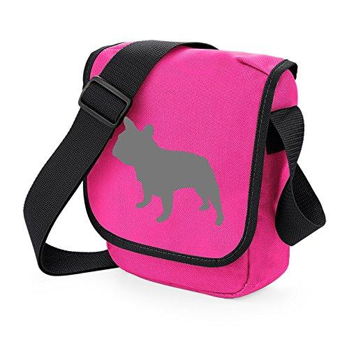 Gift Bulldog Bag Grey Colours Pink Bag Dog Frenchie Reporter Silhouette Bulldog French Shoulder of Bag Walkers Choice French Bag Dog 7PtnqZwa