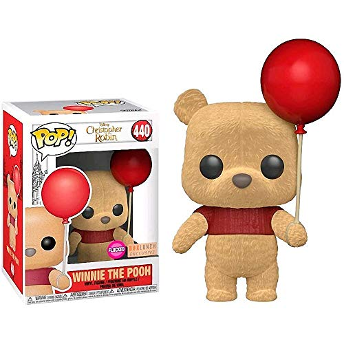 (Funko Winnie The Pooh [Flocked] (BoxLunch Exclusive): Winnie The Pooh x POP! Disney Vinyl Figure & 1 PET Plastic Graphical Protector Bundle [#440 / 32425 - B])
