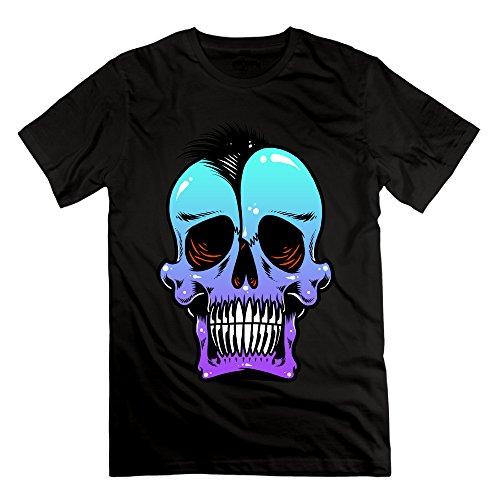 Men's SKULL PUNKS Short-Sleeve T-shirt Black (Skin And Bones Set)