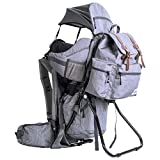 ClevrPlus Urban Explorer Hiking Baby Backpack Child Carrier |Gray Sunshade Bag