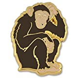 PinMart's Wild Monkey Chimp Zoo Animal Enamel Lapel Pin