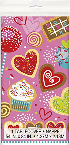 Sweet Valentine Plastic Tablecloth 84