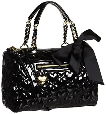Betsey Johnson BH67820 Satchel,Black,One Size