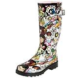 Chooka Women's Tokidoki Discoteca Rain Pup Rain Boot