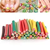 Fruit Fimo Canes Stick 3D Nail Art Decorations Polymer Clay Canes Nail Stickers Tips
