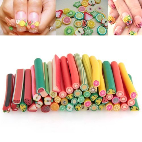 Fruit Fimo Canes Stick 3d Nail Art Decorations Polymer Clay Canes