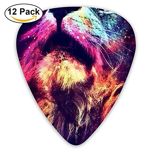 Funny Large Rasta Lion Acoustic Thin Heavy Medium Light Guitar Picks Kids 12 Packs Cigar Box Guitar
