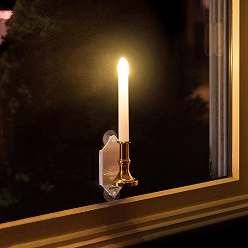 2Pcs Solar Power Romantic Candle Light Wall Lamp for Outdoor Wall Window Fence Decor