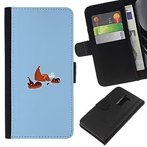LECELL--Cuero de la tarjeta la carpeta del tirón Smartphone Slots Protección Holder For LG G2 D800 -- Arca de Noé Titanic divertido --