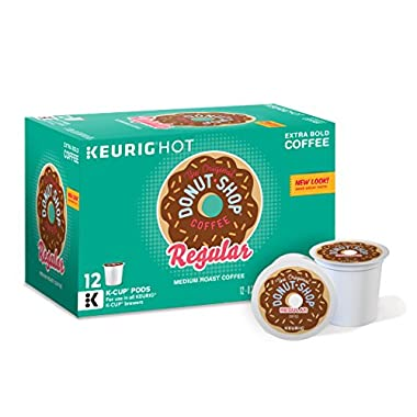 Keurig, The Original Donut Shop, Regular, Medium Extra Bold, K-Cup packs, 12-Count (Pack of 6)