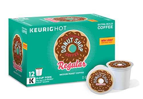 The Original Donut Shop Keurig Single-Serve K-Cup Pods, Regular Medium Roast Coffee, 72 Count (6 Boxes of 12)