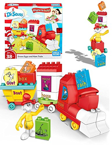 Mega Bloks Dr. Seuss - GREEN EGGS and HAM TRAIN