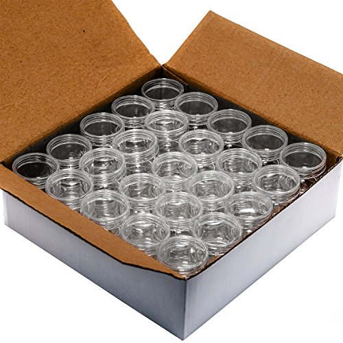 ljdeals 5 Gram Clear Plastic Jars Cosmetic Container with Lid, 50 - Clear Lid Star