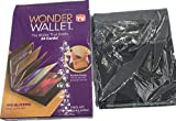 1PCS Hot sale NEW Wonder Wallet Amazing Slim RFID Wallets As Seen on TV Black Leather 24Cards