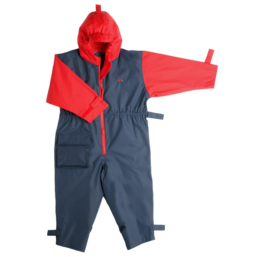 Togz All-in-One Waterproof Suit Navy Red 12-18 Months