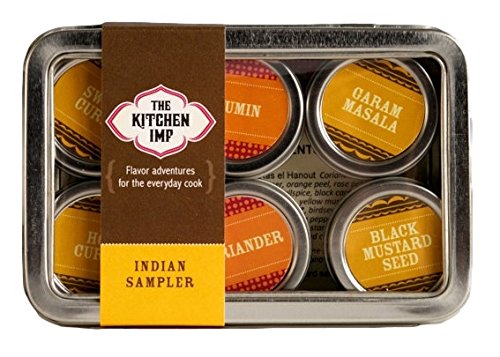 The Kitchen IMP Indian Spice Organic Sampler Set With 6 Tins 10grams Each | For Seasoning & Marinating Meat, Poultry, Fish, Veggies & More | Premium Cooking Gift Set