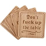 Don't F Up the Table Coasters For Drinks, Funny Coasters, Bar Coasters, Beer Coasters, Drink coasters, Best Hostess Gifts, Housewarming Gifts for New Home - Set of 4