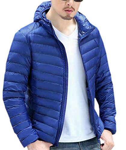 Reale Eku S Incappucciati Blu Caldo Moda Leggero Giacche Mens Giù xBwqC61z