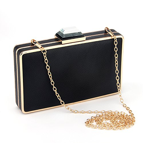 Handbags party Bridal �C Clutch Bags Bags Prom Evening Wedding Bags Rhinestone Purse Black Clutch Women For Purse 0vcOBgg7A
