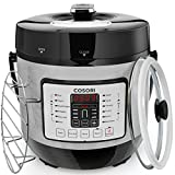 COSORI 6 Quart 7-in-1 Multi-Functional Electric Pressure Cooker, Digital Stainless Steel Steam Slow Cookware, 1000W