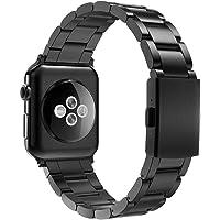 Simpeak Bransoletka kompatybilna z zegarkiem Apple Watch 44/42 mm, stal nierdzewna, zapasowa bransoletka dla mężczyzn…