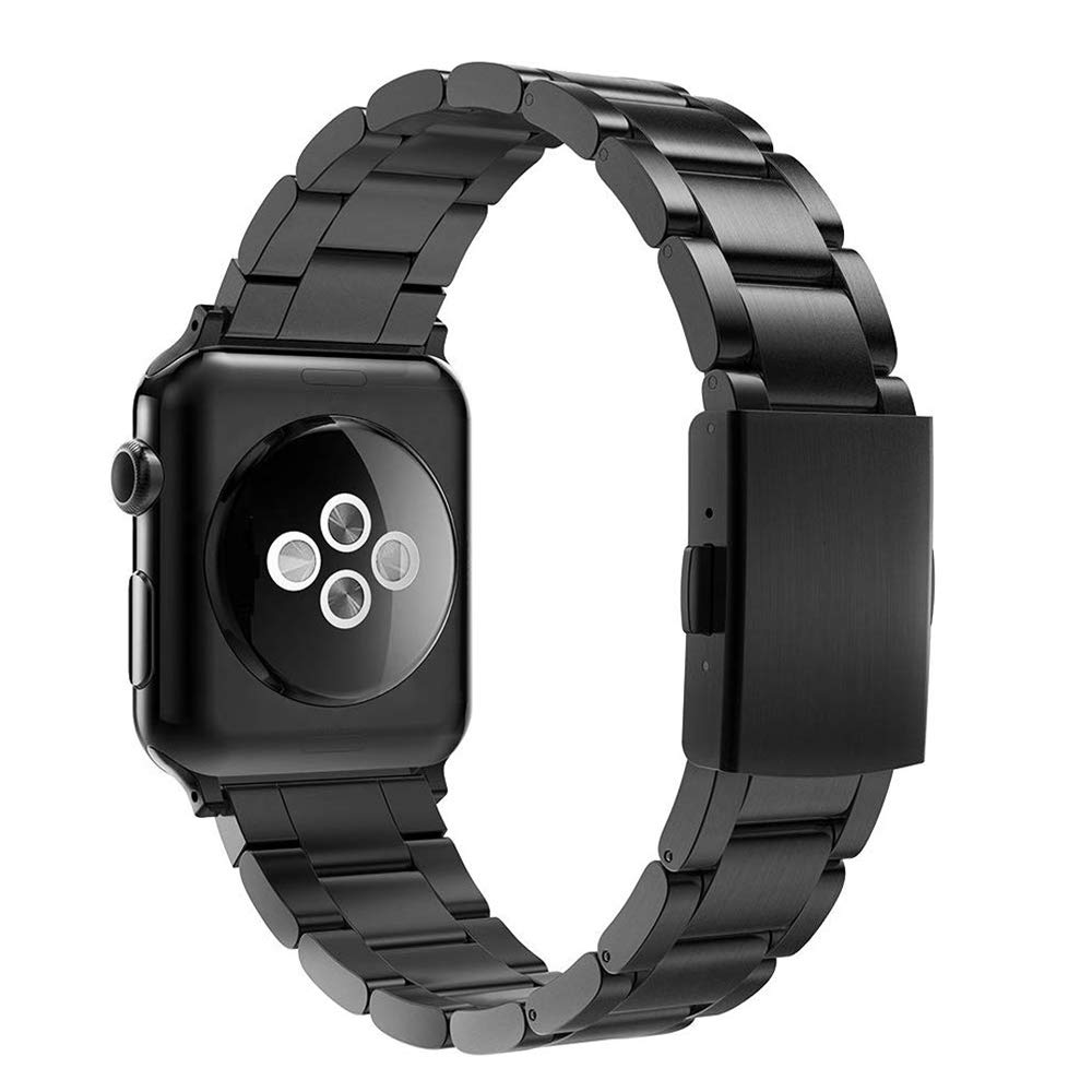 Simpeak Correa Compatible con Apple Watch Series 5/ Series 4/Series3/ Series 2/ Series 1 Correa 38mm de Acero Inoxidable Reemplazo de Banda de la ...