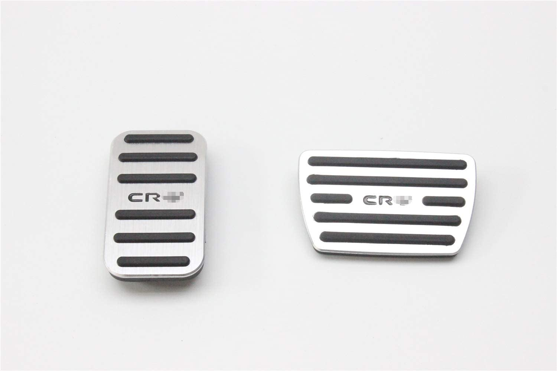 OLIKE 2 Pcs Aluminum Alloy Car Fuel Accelerator Pedal Brake Pedal Cover Kit for Honda CR-V CRV 2017-2020
