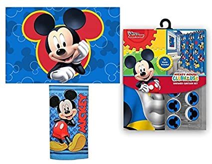 Image Unavailable Not Available For Color 15pc Disney Mickey Mouse Clubhouse Shower Curtain