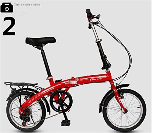 折りたたみ自転車 16インチ マウンテンバイク MTB おりたたみ自転車 折畳自転車W468 B00QA16FPC レッド レッド