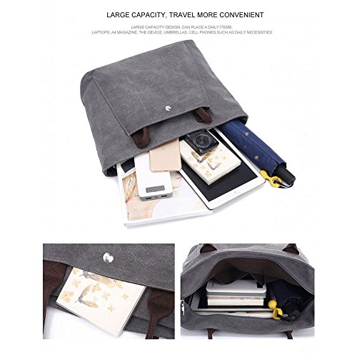 Female gray Casual Designers Canvas SODIAL Shoulder Ladies Solid Fashion Canvas Totes Bag Women's Bag Bag Handbags Bags Hand rBaBwxA8qT