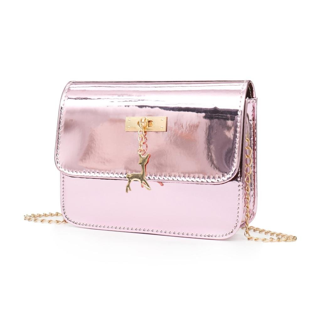 2018 Cheap Fashion Messenger Bag, Womens Leather Crossbody Bag Small Deer  Laser Shoulder Bags (Pink)  Amazon.co.uk  Shoes   Bags d852807eff
