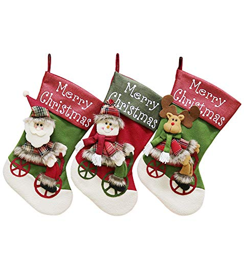 Timodecor Classic Christmas Stockings, 18