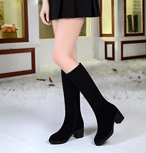 Boots With Wool Autumn Matte A Boots Thirty Female Black In Winter Boots Anti Version With five Skid And Thick GTVERNH wO6x7516