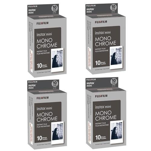 Black And White Printer (Fujifilm 4X Instax Mini Monochrome Instant Film, 10 Pack, Black/White (16531960 4))