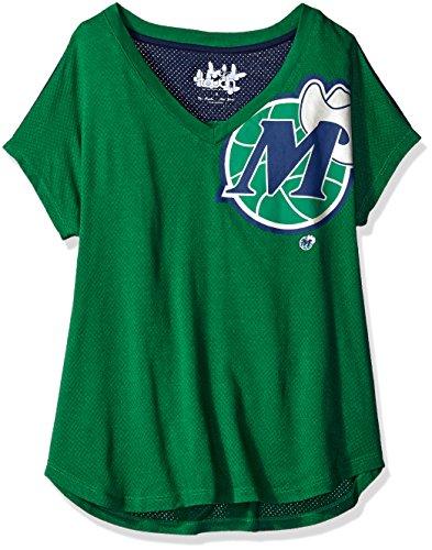 Mavericks Green (NBA Dallas Mavericks Women's First Down Tee, Medium, Green)