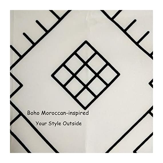 YoKII Boho Moroccan Fabric Shower Curtain, Tribal Beige Geometric Trellis Polyester Bath Curtain Set, Decorative Spa Hotel Heavy Weighted 72-Inch Bathroom Curtains, (72 x 72, Beige) - KEEPS WATER INSIDE -- NEW resin coating technology keeps water slide off the fabric shower curtain and quick drying. No liner required. YOUR STYLE OUTSIDE -- This Moroccan-inspired patterns will taken over you bathroom beauties. Off white base color means that it will work with most color schemes. 180 GSM FABRIC -- Durable but soft feeling fabric with 180 GSM means very heavy duty, which ensures a bathroom curtain last longer and will be more pricey. - shower-curtains, bathroom-linens, bathroom - 51WiHl 9%2B8L. SS570  -