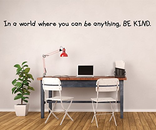 (Kindness Quote Wall Decal - If You Can Be Anything, Be Kind - Vinyl Wall Decal, Classroom Decorations for)