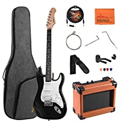 """Body: Solidwood Body Finish: Gloss Polyurethane Neck Material: Maple Neck Shape: shallow """"C"""" Scale Length: 25.5"""" (648 mm) Fingerboard: Black Richlite Number of Frets: 22 String Nut: Synthetic Bone Nut Width: 1.6"""" (40 mm) Position Inlay..."""
