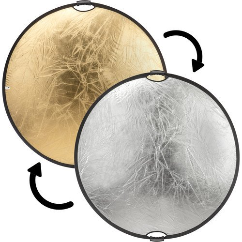Impact Circular Collapsible Reflector with Handles (52'', Gold/Silver) by Impact