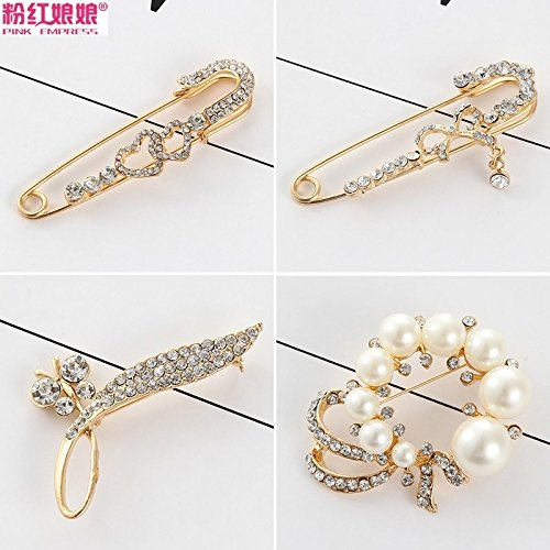 Sleeve igan corsage pin accessories suit sweater shawl scarf pin collar pin jewelry pearl brooch woman outside