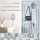 Woillion Over Door Hooks for Hanging Clothes, 6