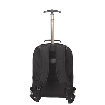 leahward Uni Sexo mujeres de los hombres de la más alta calidad Mochila con ruedas de mochila cabina bolsa de viaje, equipaje de mano BLACK 35x24x48: ...