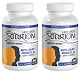 Product review for energy pills for men - GRAY HAIR SOLUTION - FOR MEN & WOMEN - EXTRA STRENGTH FORMULA - saw palmetto dietary supplement - 2 Bottles (120 Capsules)