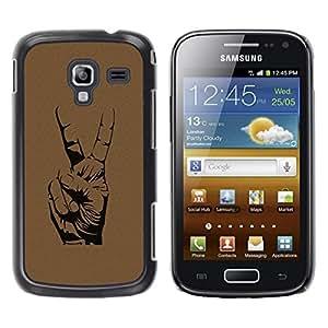 Be Good Phone Accessory // Dura Cáscara cubierta Protectora Caso Carcasa Funda de Protección para Samsung Galaxy Ace 2 I8160 Ace II X S7560M // Peace Hand Sign