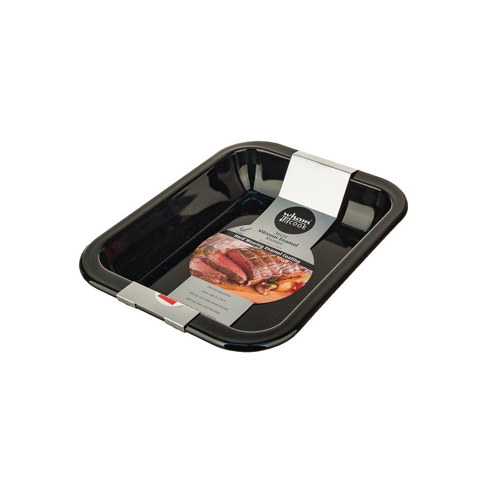 New Wham Black Vitreous Enamel Large Roaster Roasting Dish Pan 36cm 55125 B01728UCPK