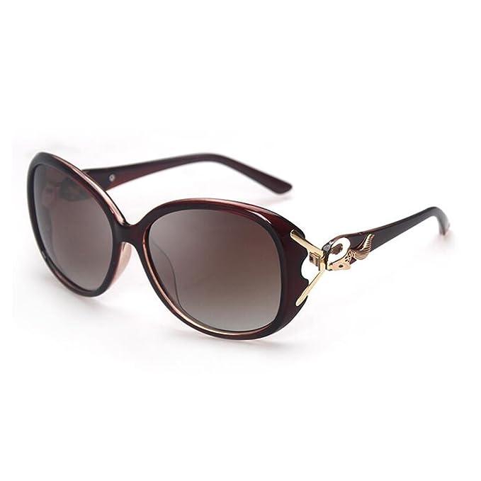 HLMMM Gafas de sol femeninas Polaroid Resin Box UV400 Personality Gafas de sol retro de la moda Las personas de la marea se pueden equipar de las gafas de ...