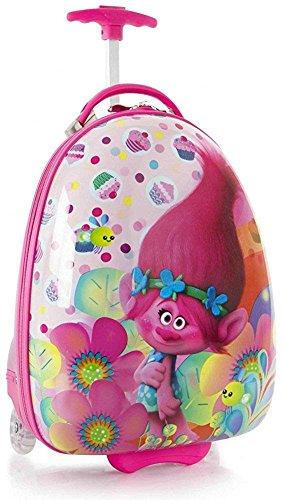 Heys America Unisex DreamWorks Trolls Kids Hardside Luggage Pink Luggage