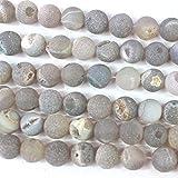 fashiontrenda Natural Druzy Agate Round Findings Jewerlry Making Gemstone Loose Beads 12mm